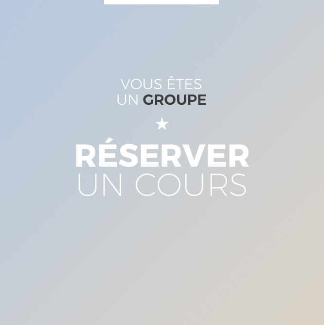 reserver cours groupe