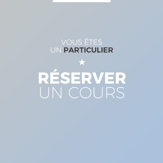 reserver cours particulier